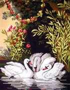 Grafitec Swans in the Shade Tapestry Canvas