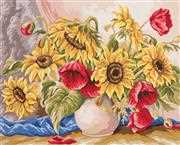 Poppies and Sunflowers - Grafitec Tapestry Canvas