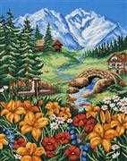 Spring in the Mountains - Grafitec Tapestry Canvas