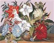 Tropical Posy - Grafitec Tapestry Canvas