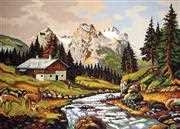Mountain Chalet - Grafitec Tapestry Canvas