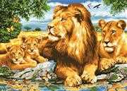 Grafitec Lion Family Tapestry Canvas