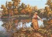 The Water Carrier - Grafitec Tapestry Canvas