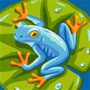 Grafitec Blue Frog Tapestry Canvas