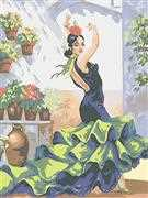 Flamenco Dancer - Grafitec Tapestry Canvas
