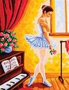 Ballet Lesson - Grafitec Tapestry Canvas
