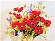 Wild Poppies - Grafitec Tapestry Canvas