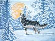 Grafitec Moonlight Wolf Tapestry Canvas