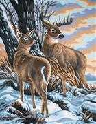 Stag and Doe - Grafitec Tapestry Canvas