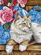 Grafitec Cat on the Shelf Tapestry Canvas