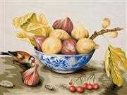 Bowl of Figs - Grafitec Tapestry Canvas