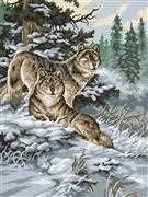 Snow Wolves - Grafitec Tapestry Canvas
