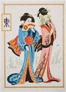 Geisha Pair - Grafitec Tapestry Canvas
