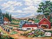 Vineyard - Grafitec Tapestry Canvas