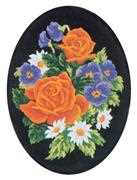 Pansies and Roses - Grafitec Tapestry Canvas