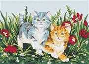 Playful Kittens - Grafitec Tapestry Canvas