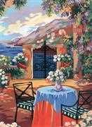 Tuscan Terrace - Grafitec Tapestry Canvas
