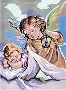 Guardian Angel - Grafitec Tapestry Canvas