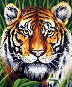 Tiger Portrait - Grafitec Tapestry Canvas
