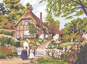 Grafitec Cottage Gate Tapestry Canvas