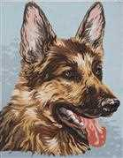 Alsatian - Grafitec Tapestry Canvas