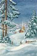 Snow Chapel - Grafitec Tapestry Canvas