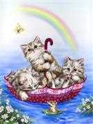 Rainbow Kittens - Grafitec Tapestry Canvas