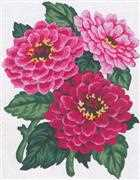 Pink Chrysanthemums - Grafitec Tapestry Canvas