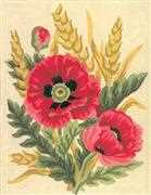 Poppies and Wheat - Grafitec Tapestry Canvas
