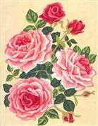 Pink Roses - Grafitec Tapestry Canvas