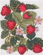 Strawberries - Grafitec Tapestry Canvas