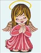 Angel Girl Prayer - Grafitec Tapestry Canvas