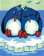 Penguin Pair - Grafitec Tapestry Canvas