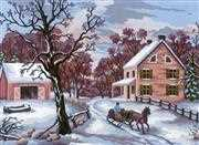 Winter Scene - Grafitec Tapestry Canvas