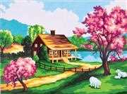 Spring Scene - Grafitec Tapestry Canvas