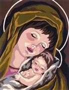 Grafitec Madonna and Child I Tapestry Canvas