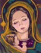 Madonna and Child II - Grafitec Tapestry Canvas