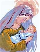 Madonna and Child III - Grafitec Tapestry Canvas