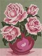 Pink Rose Vase - Grafitec Tapestry Canvas