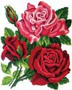Grafitec Rose Posy Tapestry Canvas