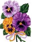 Grafitec Pansies Tapestry Canvas
