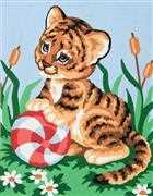 Tiger Cub - Grafitec Tapestry Canvas
