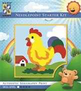 Crowing Rooster - Grafitec Tapestry Kit