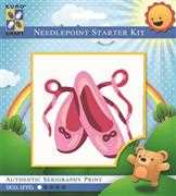 Pink Ballet Slippers - Grafitec Tapestry Kit
