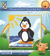 Dancing Penguin - Grafitec Tapestry Kit