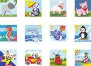 12 Miniatures Set 2 - Grafitec Tapestry Canvas