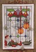 Permin Elf in Window Advent Christmas Cross Stitch Kit