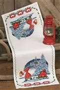 Permin Delivering Gifts Runner Christmas Cross Stitch Kit