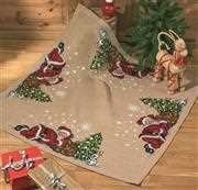 Sleeping Santa Tree Mat - Permin Cross Stitch Kit