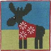 Christmas Jumper Moose - Permin Cross Stitch Kit